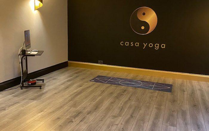 image of casa yoga room